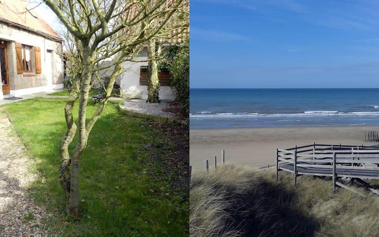 Maison de campagne à 700 mètres de la plage. - Oye-Plage - Hus