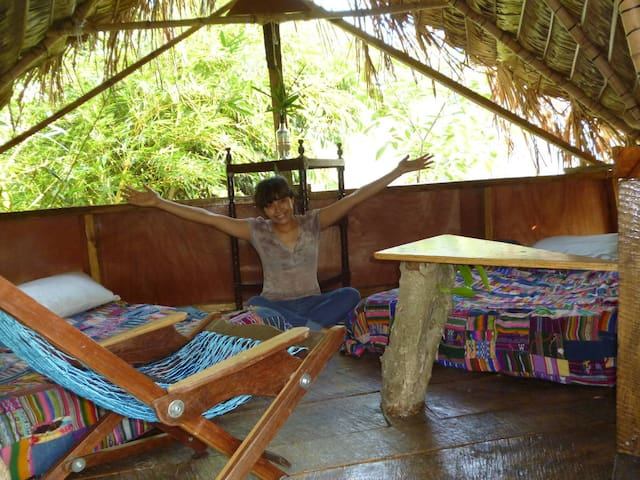 Treehouse in a Maya Cherry Tree over a creek - San Benito