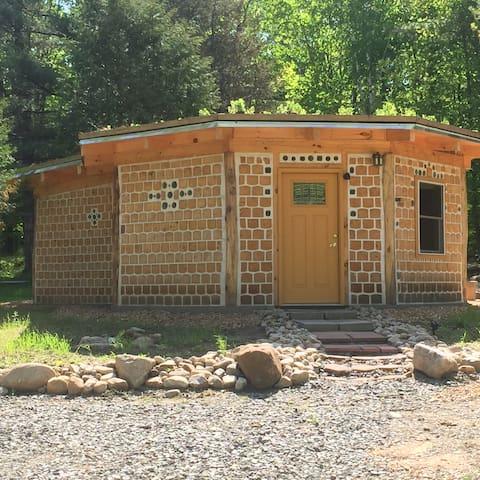 Adirondack Cordwood Cabin Hand Created & Colorful - Wilmington