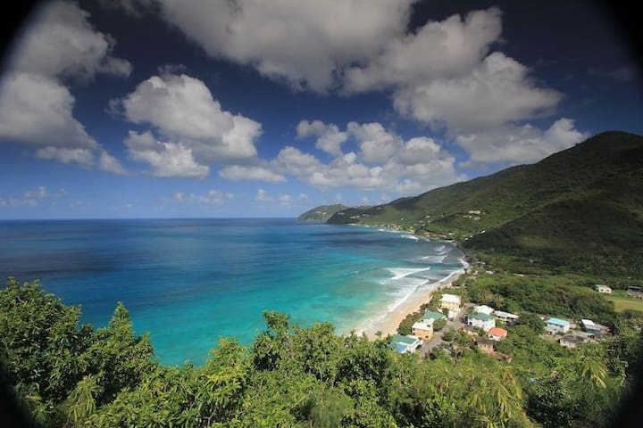 Cottage overlooking Apple Bay surf - Tortola - Kabin