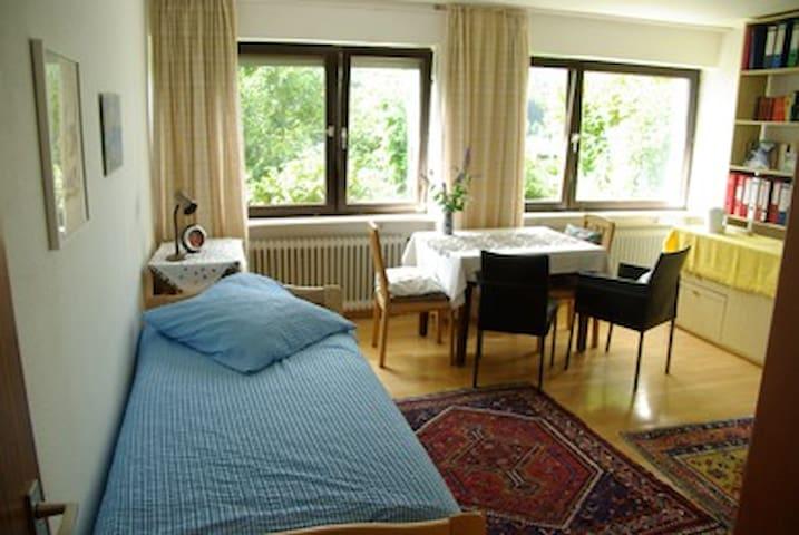 Bright spacious room, forest view - Furtwangen - Pousada