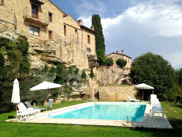 House with swimming pool in the Cre - Asciano - Appartement