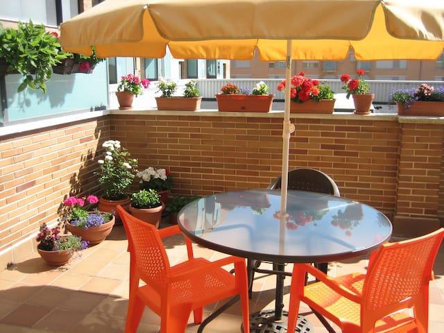 Peaceful flat with a large terrace - Pamplona - Leilighet