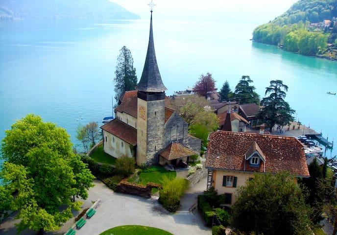 Le Roselier, im Schlosspark am See - Spiez - Villa