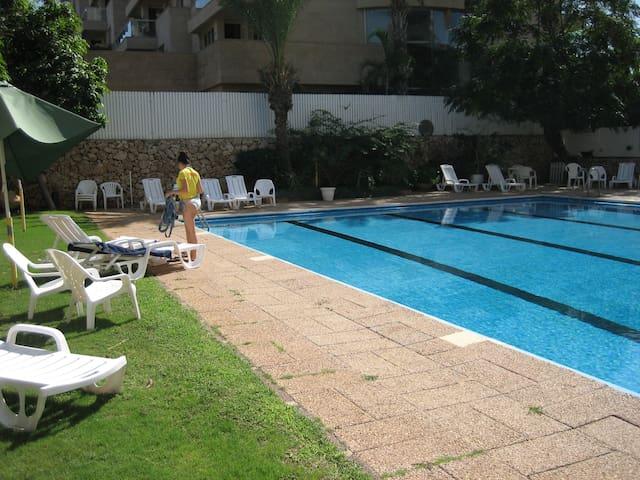 Herzliya Pituach Apartment with Pool, by the Beach - Herzliyya