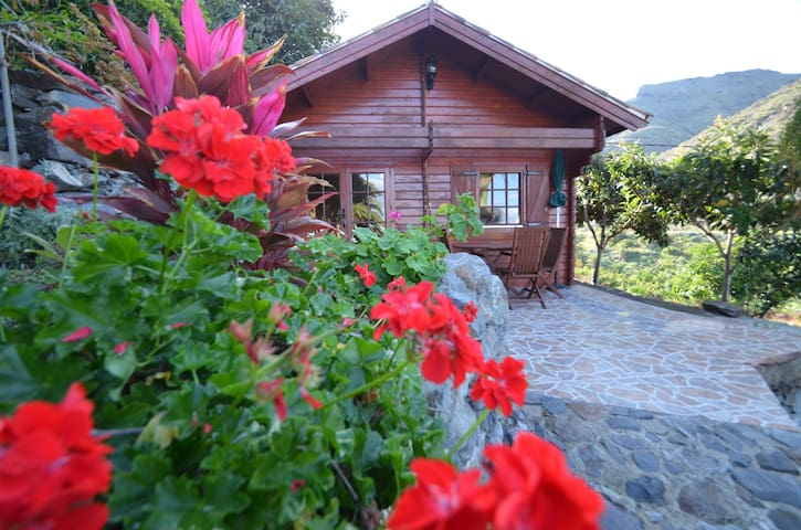 Bonita cabaña en Alojera - Vallehermoso - Houten huisje