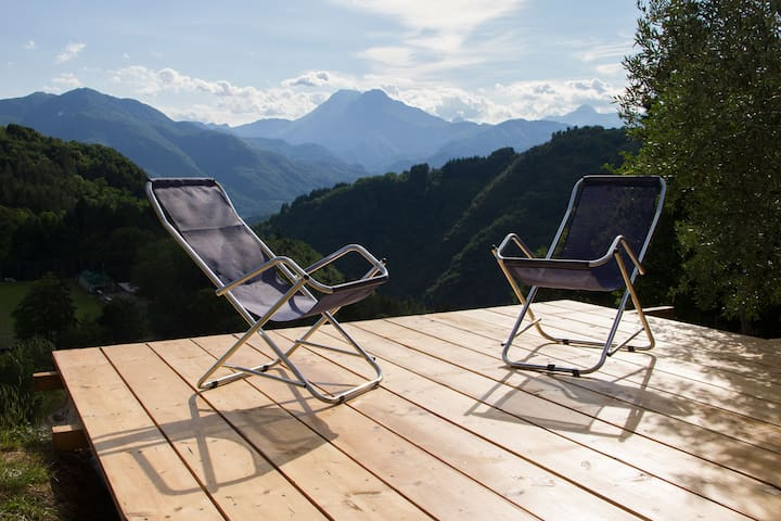 Chalet with pool and panoramic view - Coreglia Antelminelli - Cabane