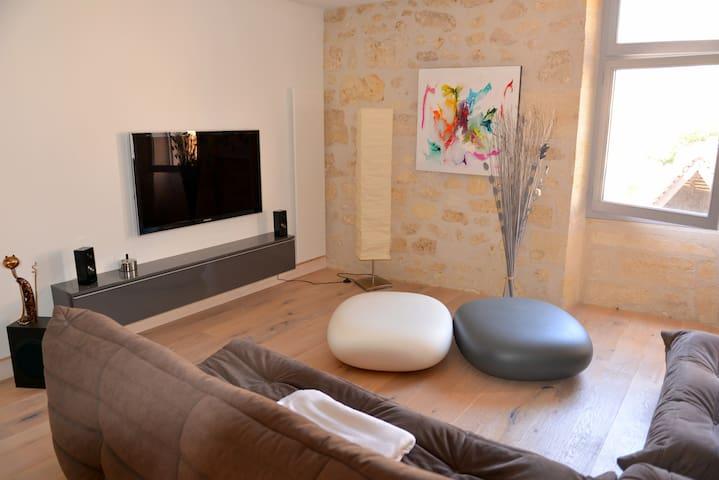 Appart Loft au cœur de St-Emilion - Saint-Émilion - Appartement