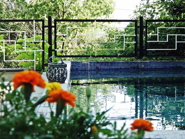 Lovely apartment with pool & garden - Budapest