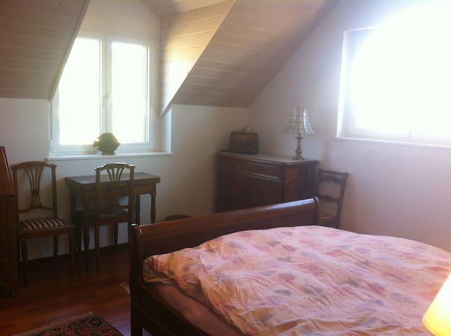 Grande chambre dans une villa neuve - Perroy - Casa