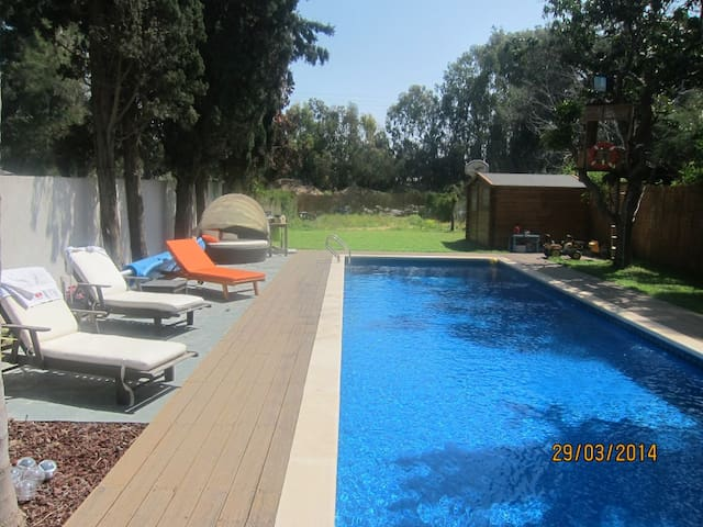 nice house with pool and big yard - Herzliya - Hus