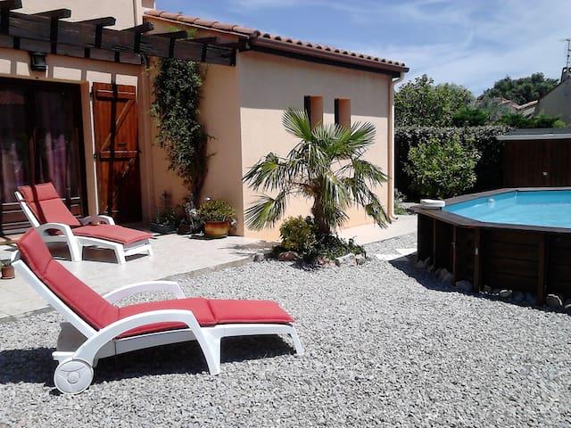 Calme, jardin et piscine - Thuir - Hus