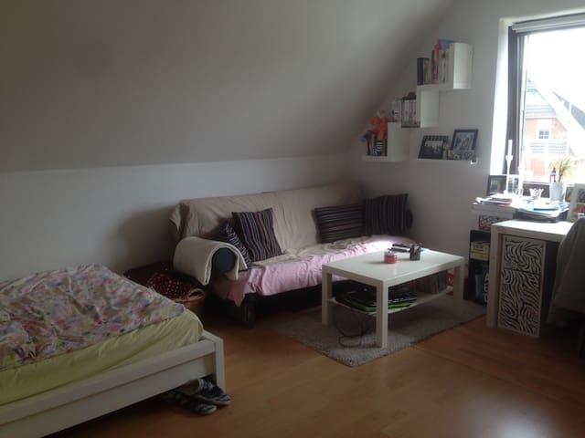 Großes Zimmer mit schöner Sofaecke - Heide - Apartment