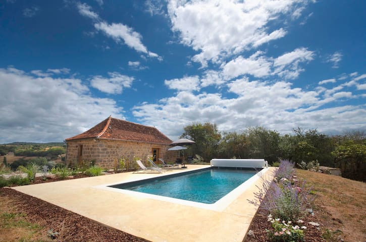 Romantic Cottage Dordogne Valley---Heated Pool - Curemonte - 獨棟