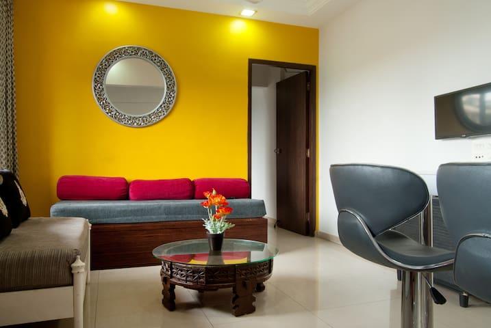 1BR Apt-Spacious & Comfortable - Mumbai - Apartmen perkhidmatan