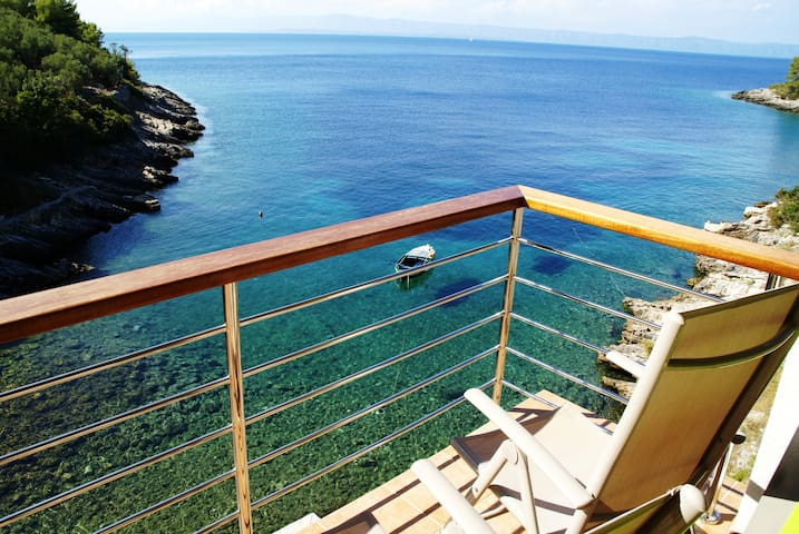 Remote beach house 6m from the sea! - Vela Luka  - Apartemen