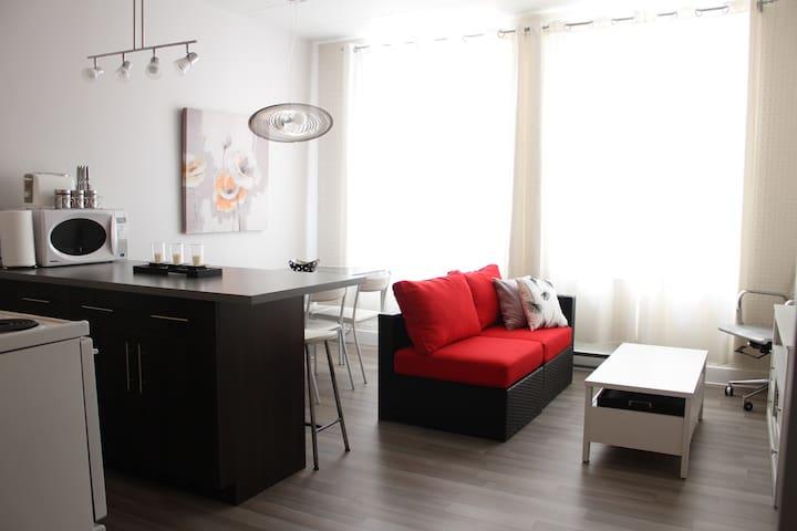 Beau loft urbain rénové et propre - Québec - Apartemen