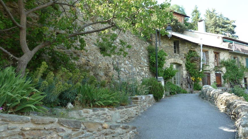 Pyrenees rock house, spectacular views, garden - Canaveilles - Hus