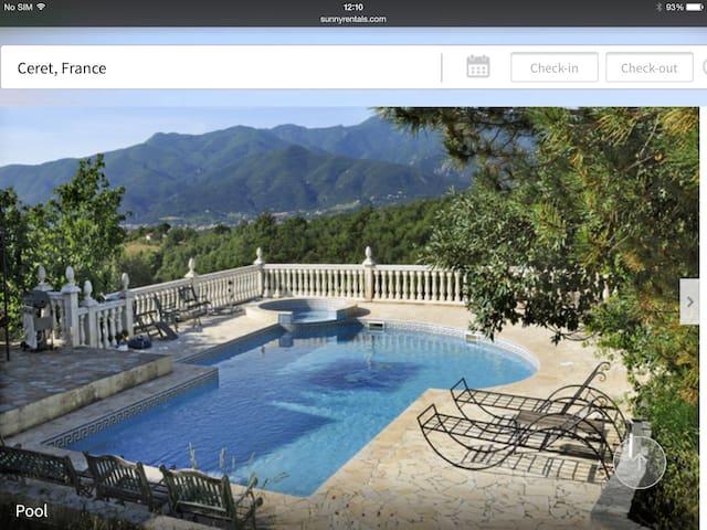 Magnificent Villa. pool. jacuzzi. - Céret - Bed & Breakfast